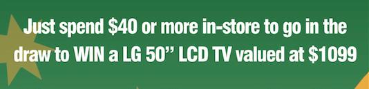 """Win a LG """"50 LCD TV"""