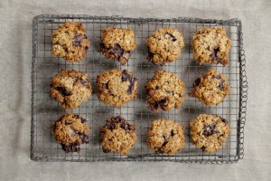Oatmeal, chocolate chip cookies, made with Australian organic butter, courtesy of The Healthy Chef.